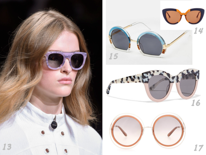 13 CARVEN Sunglasses SS 2016 © Presse 14 MARNI PRISMA glasses SS 2016 © Marni 15 Sunglasses ASOS SS 2016 © ASOS 16 STELLA MCCARTNEY Sunglasses SS 2016 © Net à porter 17 Chloé Sunglasses SS 2016 © Chloé