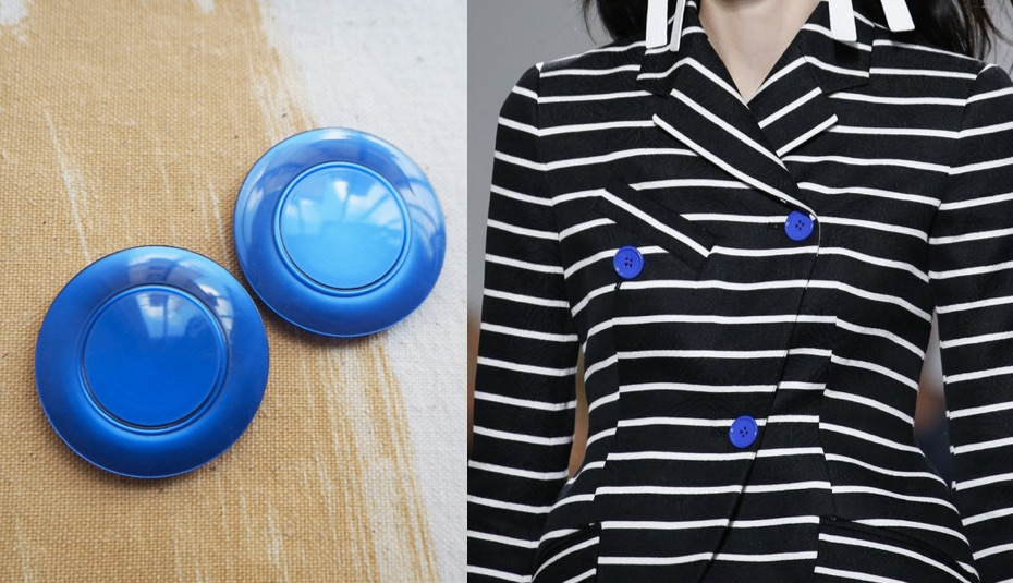 Bright Blue Buttons
