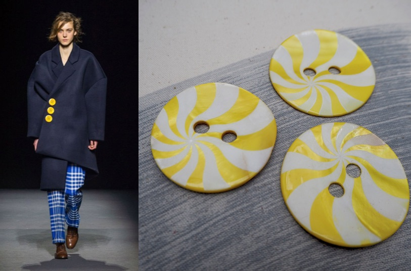 large yellow buttons