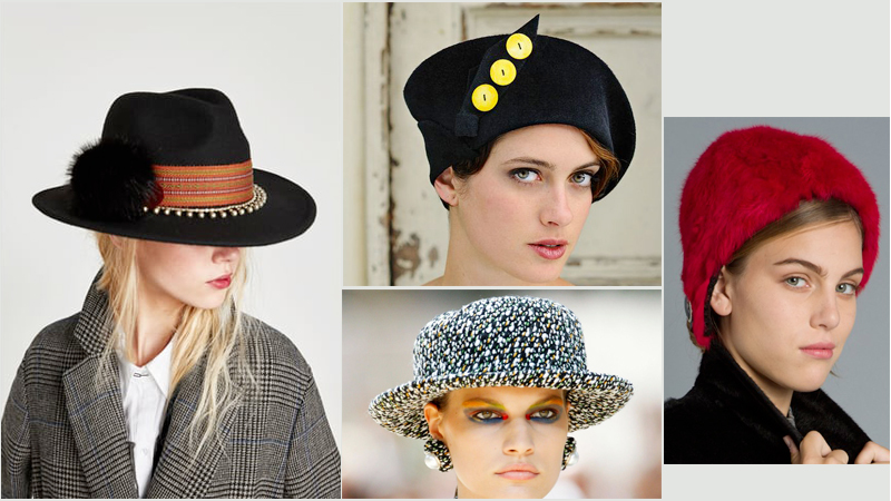 Women looks with hat