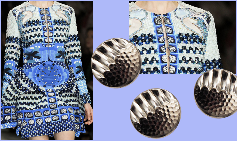jewelry buttons on chic dress