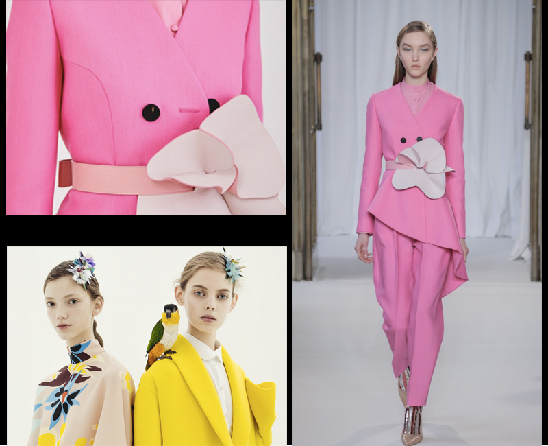 Avant garde fashion Delpozo suit