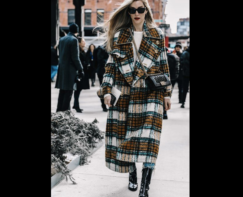 plaid coat style