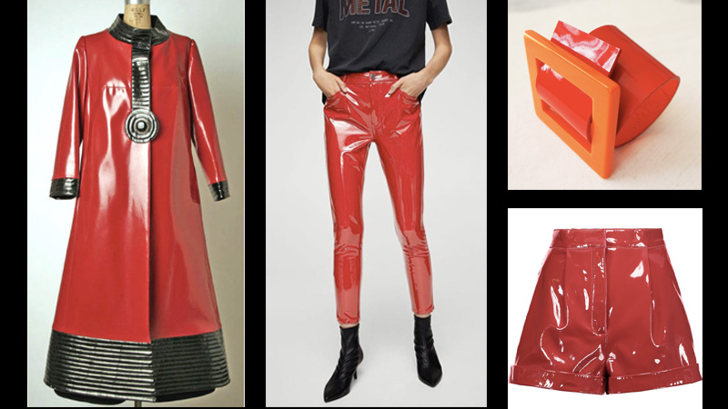 Red vinyl outfits