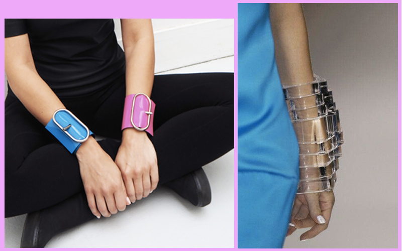 contemporary wrist jewelry plexiglas