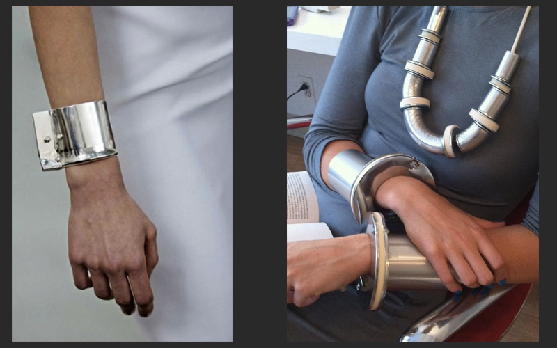 contemporary wrist jewelry industrial style