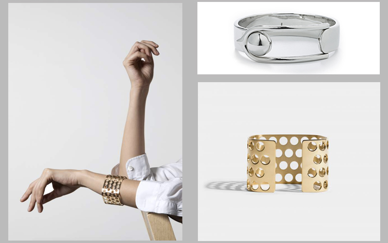 contemporary wrist jewelry metal