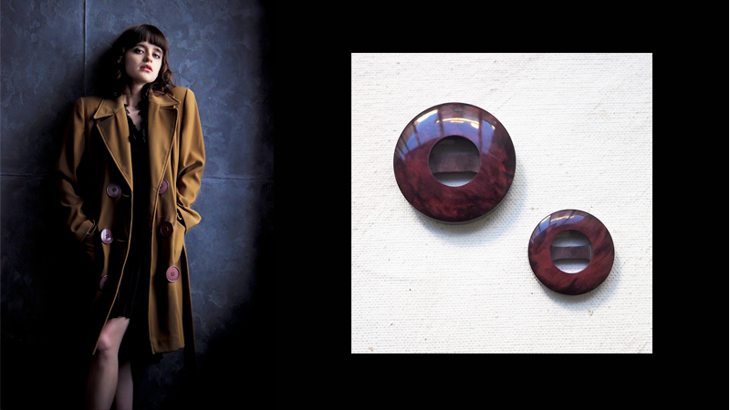 dress up a coat fashion button tips