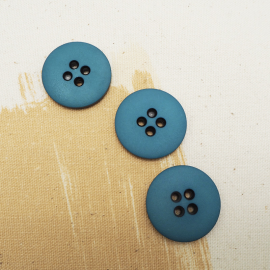 Blue Bowie Sewing Button 26mm
