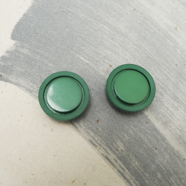 Green Tropic Lacquer Button 26mm