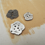 Silver Urchin Button 25-34mm