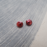 Red Garnet Shell Couture button 10mm