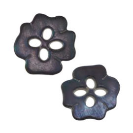 Mother-of-pearl Ethnic Flower button 20mm