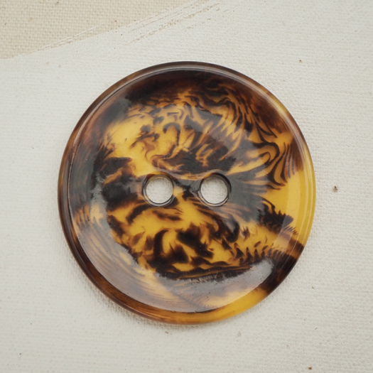 Tawny Resin Button 48mm