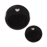 Horn Heart button 15-23mm