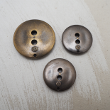 Bronze African Mask Button 30-40mm