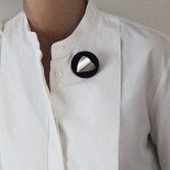 Fin Original Button Brooch