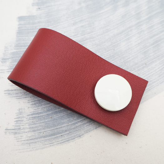 Red Bolla Bianca Leather Cuff