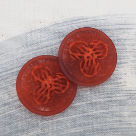 Red Stucco Couture button 34mm