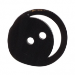 Black horn Clown button 15-25mm