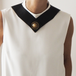 Original Chinese Leather Bib Sailor Necklace