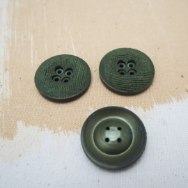 Green Velvet button 26mm