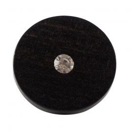 French Code ebony button 10-15-20mm