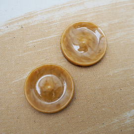 Yellow Resin Button Roudoudou 34mm