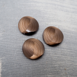 Brown Resin Button Furrow 22mm