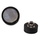 Binocular ebony button 11-15mm