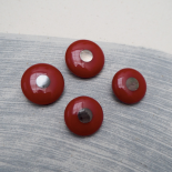 Red Resin Sewing button spinning top 26-30mm