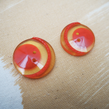 Red moon resin button 32mm-28mm-22mm
