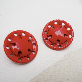 Resin Button Red Pulley 40mm