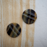 Rond brown Resin button Savanna 34mm