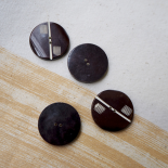 Brown Button Resin Foxtrot 30mm