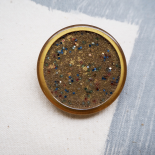 Yellow Arabian Nights couture button 44mm