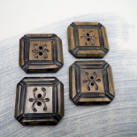 Horn button square 39mm