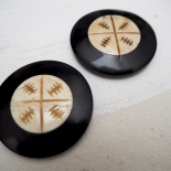 Horn Button African style 45mm