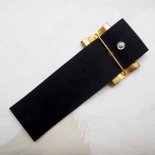 Gipsy Original Black Leather Cuff Bracelet