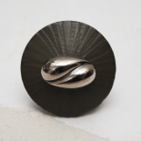 Modern Original Button Ring Glass Savarin