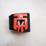 Design Leather Cuff Black and Red Asia
