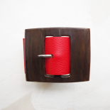 Design Red Leather Cuff Ligia