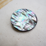 Mother of pearl grey button boreal 50mm