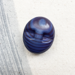 Blue Resin Button Ovale Gouli 18mm