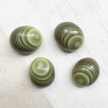 Resin Button Ovale Green Gouli 18mm