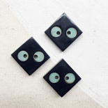 Blue Square Resin Button Pelican 17mm