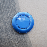 Sewing Resin Button Blue Arty 35mm