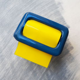 Yellow and Blue Leather Vinyl Bracelet Eden