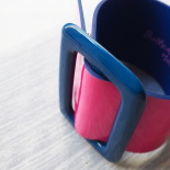 Pink and Blue Vinyl Leather Cuff Eden