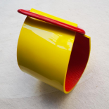 Yellow and Red Leather Cuff Eden